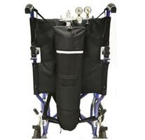 Oxygen Tank Holder for Wheelchairs or Transport Chairs with