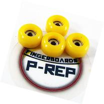 P-REP Fingerboard CNC Lathed Bearing Wheels - Yellow