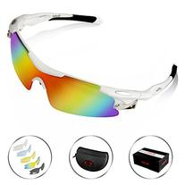 Poshei P04 Polarized Sports Sunglasses with 5 Set