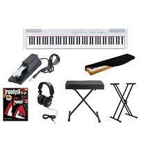 Yamaha P115WH Digital Piano + Knox Adjustable Double X