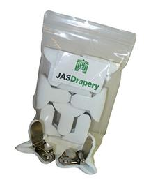 8 Pack of JAS Drapery Padded Comforter Clips, Prevents