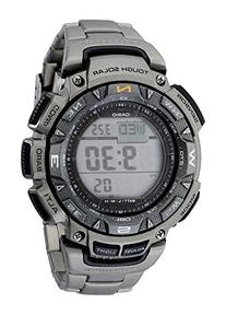 Casio Men's PAG240T-7CR Pathfinder Triple-Sensor Stainless