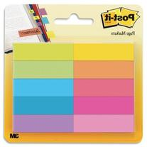 Post-it Page Markers, 1/2 in x 1 3/4 in, Assorted Bright