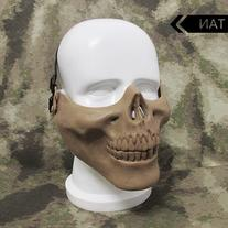 Canis Latran Painball Mask Skull Mask Half Face Tan