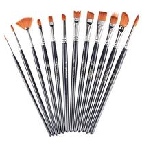 heartybay Paint Brush Set Round Pointed Tip Nylon Hair