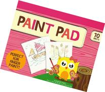 PAINT PAD PERFECT FOR FINGER PAINT! 10 SHEETS!/20 PAGES (8