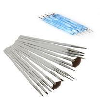 Leegoal 15Pcs Nail Art Design Painting Drawing Brushes White