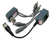 Pair Video Balun Network Transceiver with Video Audio Power