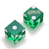 Pair  of Official 19mm Casino Dice Used at Fiesta Casinos by