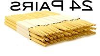 24 PAIRS - 5B WOOD TIP NATURAL MAPLE DRUMSTICKS PRO 48 DRUM