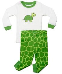 "Leveret ""Turtle"" 2 Piece Pajama 100% Cotton"