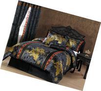 Chezmoi Collection 7-Piece Palace Dragon Jacquard Comforter