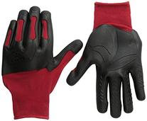 Mad Grip F50 Pro Palm Knuckler Gloves, Red/Black, Large/X-