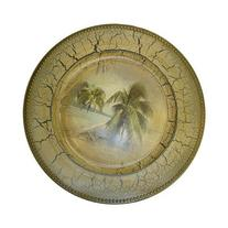 Palm Tree Tropical Design 13 Inch Large Charger Plate