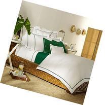 Ralph Lauren Palmer King Comforter Duvet Cover White with