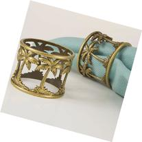 Tommy Bahama Palmtrees, Pack of 4 Napkin Rings, Bronze