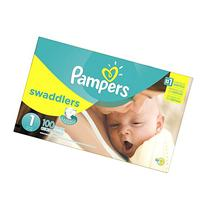 Pampers Swaddlers Size 1, 100 Diapers/Box