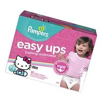 Pampers Easy Ups Training Pants for Girls 2T-3T Super Pack