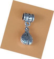 """""""Ladybug"""" Pandora style charm. Tibetan Silver Dangle charm"""