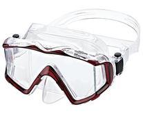 Phantom Aquatics Panoramic Scuba Snorkeling Dive Mask, Red