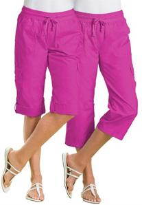 Women's Plus Size Pants, capri style in convertible lengths