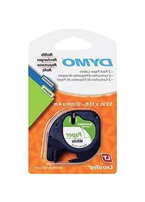 Dymo 10697 Self-Adhesive White Paper Labeling Tape for