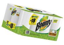 Bounty Paper Towels, 12 ct, 12 Giant Rolls = 18 Regular