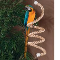 Caitec Paradise Straight Sisal Zig Zag Bird Perch, 1.5-Inch