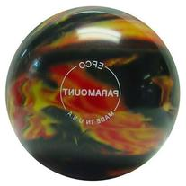 Paramount Marbleized Candlepin Bowling Ball- Black/Red/