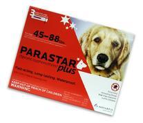 Novartis Parastar Plus Flea and Tick Control for Dogs, 45 to