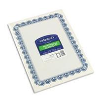 Parchment Paper Certificates, 8-1/2 X 11, Blue Royalty