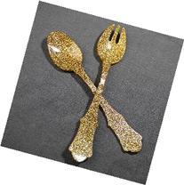 Sabre Paris Salad Set Old Fashioned Glitter Gold