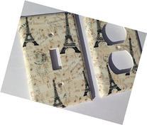 Paris Single Toggle Light Switchplate / Paris Bedroom Decor
