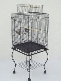 """Brand New Parrot Bird Cage Cages Play w/Stand 20x20x58 """""""