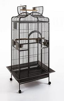 Parrot Macaw Cockatoo African Grey Bird Cage Q24-2822 Black