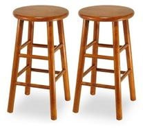 Winsome Wood 31 in. Charger Swivel Seat Bar Stool - Set of 2