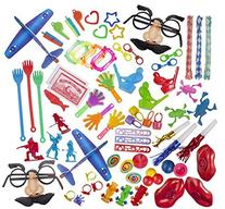 Party Favor Toy Assortment Pack of 100 Pc, Includes a Wide