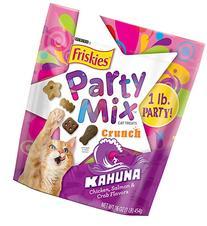 Purina Friskies Party Mix Crunch Kahuna Cat Treats 16 oz.