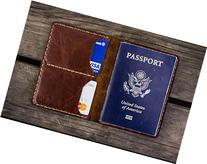 NO.06 Leather Passport Wallet -Brown