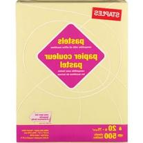"Staples® Pastel Colored Copy Paper, 8 1/2"" X 11"", Canary,"