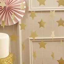 Ginger Ray Pastel Perfection Sparkling Star Garland Bunting