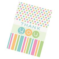 Pastel Baby Shower Thank You Note Cards, 8ct