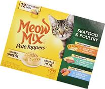 Meow Mix Pate Toppers Seafood and Poultry Variety Pack Wet
