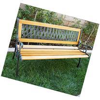 "Bellezza© Outdoor Patio Garden Park Bench Love Seat, 50""-"