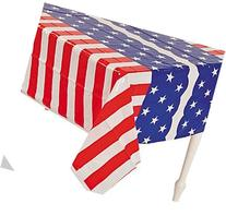 Patriotic Flag Table Covers Set of 3 - Red White and Blue