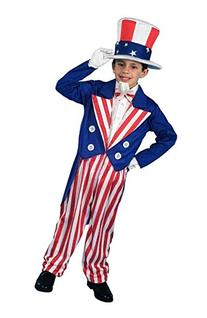 Forum Novelties Patriotic Party Uncle Sam Costume, Child