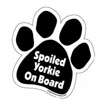 Imagine This Paw Car Magnet, Spoiled Yorkie on Board, 5-1/2-