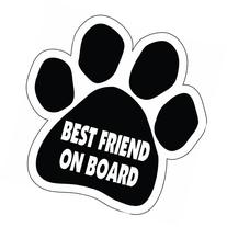 Imagine This Paw Car Magnet, Best Friend on Board, 5-1/2-