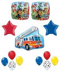 Paw Patrol Marshall Firetruck Birthday Party Balloon Set