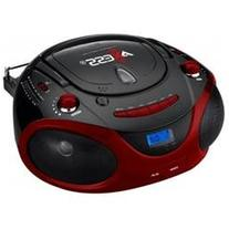 Pb2703red Axess Red Portable Boombox Mp3/Cd Player with Text